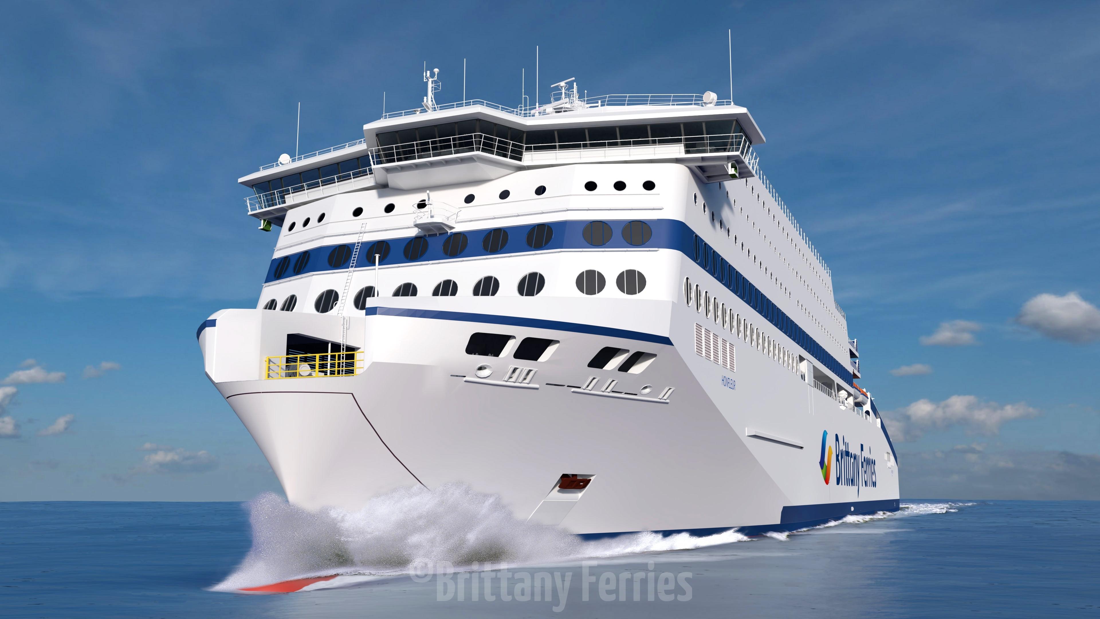 Le honfleur, le futur navire GNL de Brittany Ferries 2