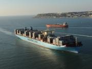 Magleby Maersk. 1ere escale en France au Havre. Photo :  Éric Houri.  Jeune Marine ©