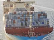 Magleby Maersk. 1ere escale en France au Havre. Photo :  J-V Dujoncquoy.