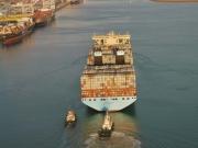 Magleby Maersk. 1ere escale en France au Havre. Photo :  Jean-Vincent Dujoncquoy. Jeune Marine ©