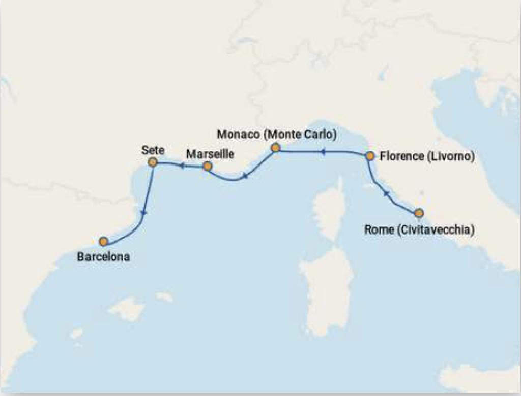 itineraire croisiere viking jupiter