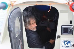 PNO Rame Charles Hedrich l'interieur de la cabine du Rameur des Glaces