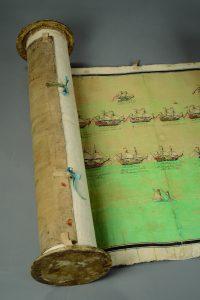 Panorama de VELEZ MALAGA présentant la bataille maritime en 1704 de l'amiral cdt la flotte francaise (conte de toulouse) contre la flotte anglaise et hollandaise.
