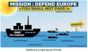 Capture ecran FB Defend Europe