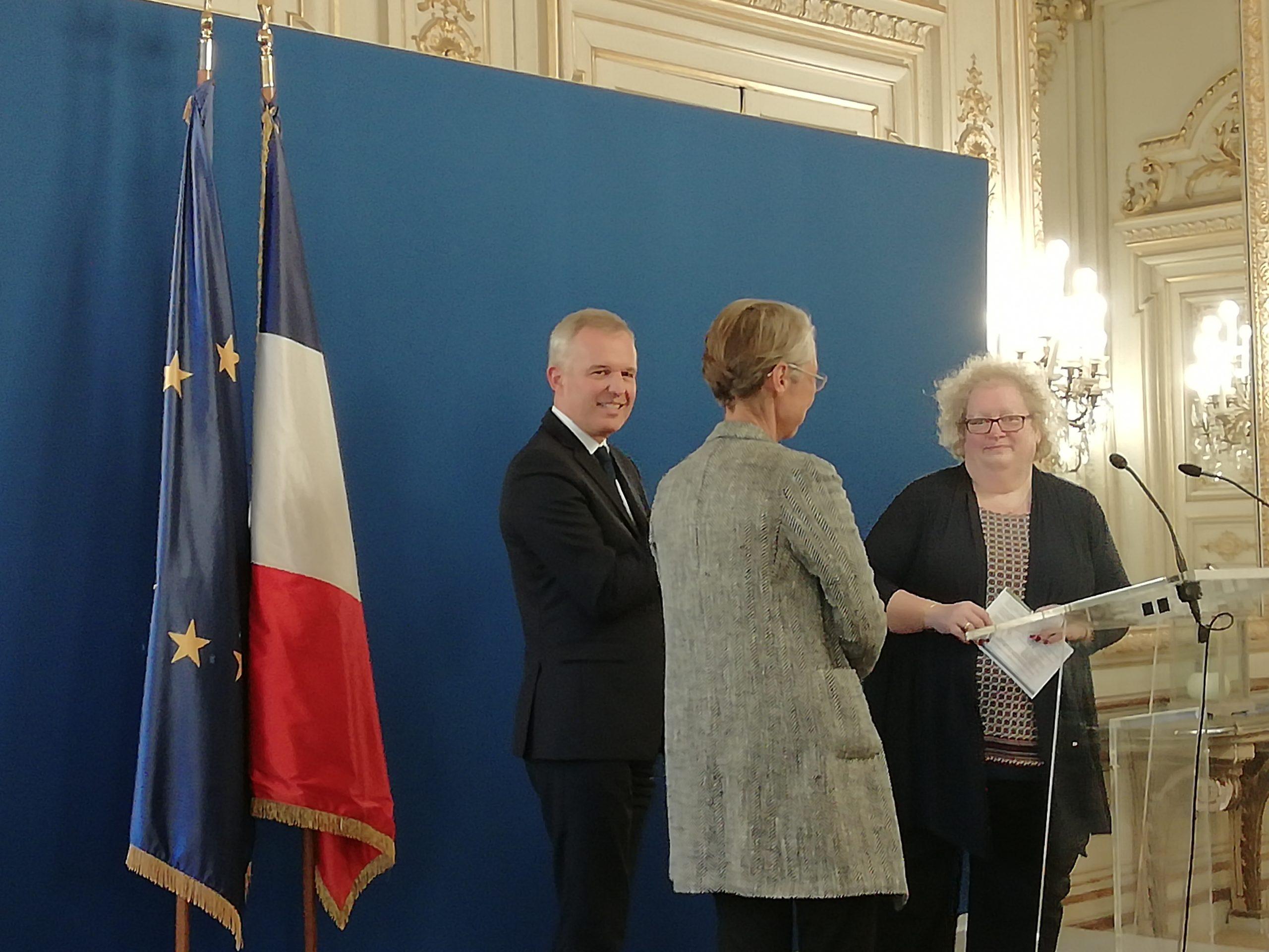 Discours de la Présidente du CNML au ministère avec François de RUGY et Elizabeth BORNE